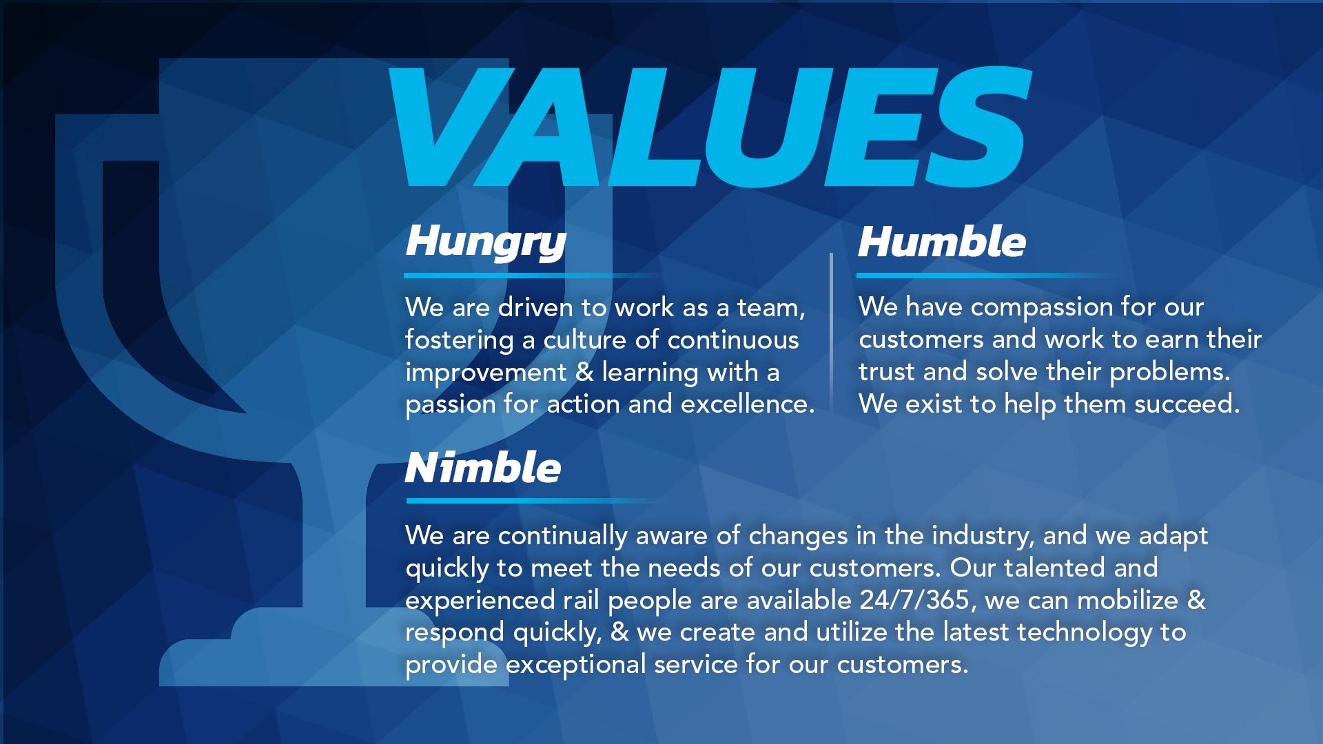 RailPros Values Statement